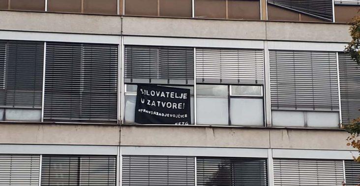 Transparent s natpisom #pravdazadjevojčice